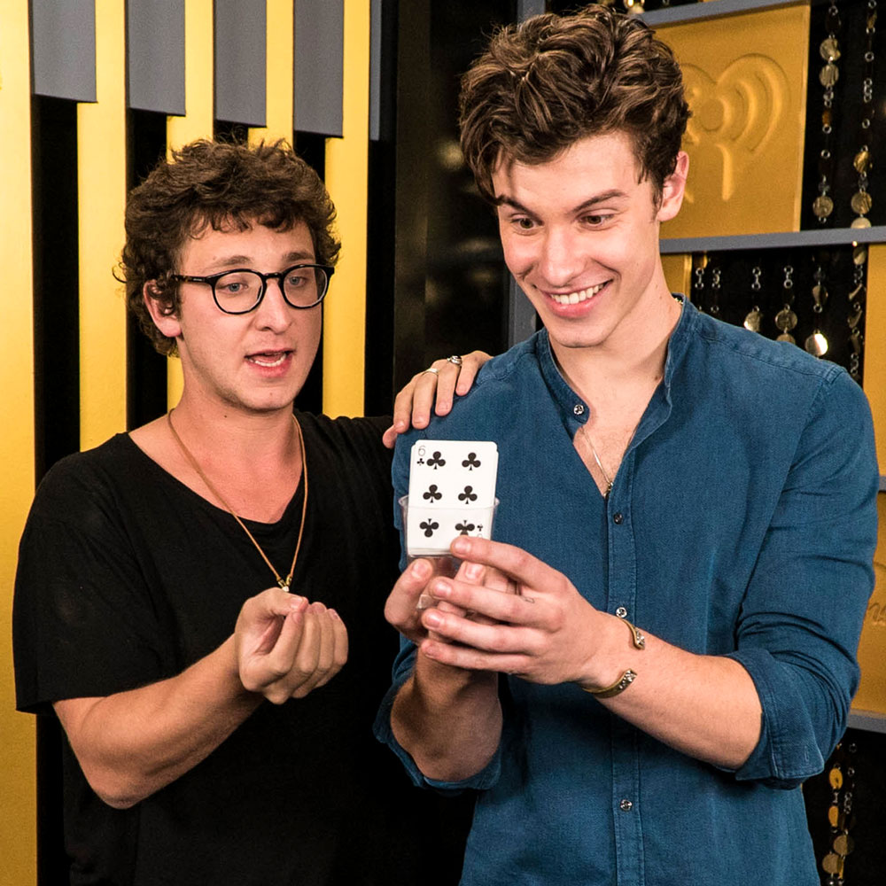 Julius with singer Shawn Mendes at iHeart Radio Music Festival
