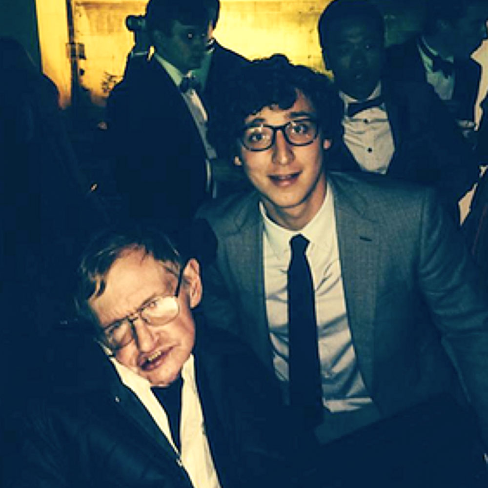 Julius with Stephen Hawking at Cambridge Ball
